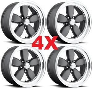 17 Daisy Cp200 Wheels Rims Staggered Gray Grey Us Mags Mustang Mopar Ford