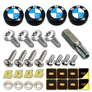 License Plate Screws Caps For Bmw Stainless Steel Anti theft Car Tag Bolt M5 m6