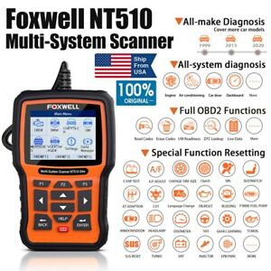 Obd2 Scanner Foxwell Nt510 Elite For Honda All System Diagnostic Abs Srs Tpms Us