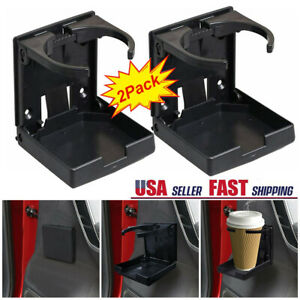 2x Universal Car Folding Cup Holder Drink Holders For Vehicle Boat Marine Rv