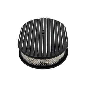Aluminum Black 12 Air Cleaner Paper Filter Polished Finned 25 370280 1