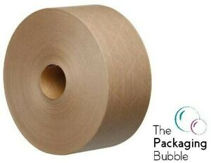 Gummed Paper Tape Roll 70mm X100m Eco Friendly Water Activated Reinforced