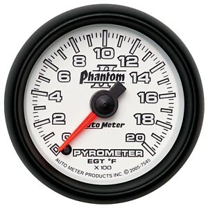 Autometer 7545 Phantom Ii Electric Pyrometer Gauge Kit