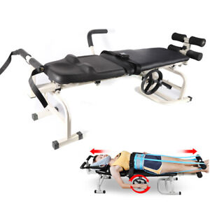 Cervical Spine Lumbar Stretch Device Traction Bed Therapy Massage Table Us Stock