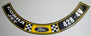 Ford Or Mustang 428 4v Cobra Jet Engine Air Cleaner Decal 379 10 95