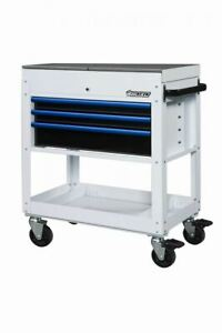 Boxo Uas340071 w34 3 Drawer With Slide Top Service Cart White
