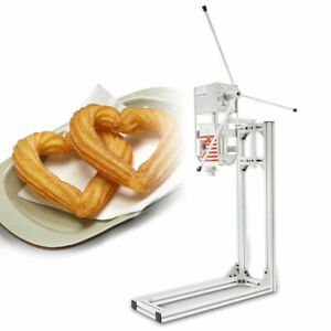 3l Silver Commercial Manual Spanish Churros Machine W Stand 5 Models Np 286