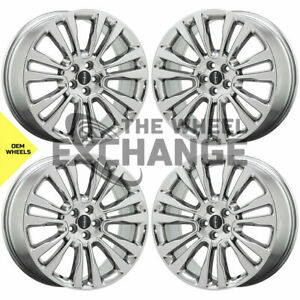 20 Lincoln Continental Pvd Chrome Wheels Rims Factory Oem Set 10091 Exchange
