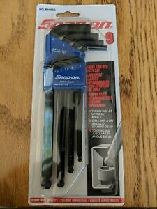 New Snap on Bhm9a Metric Ball Hex L shape Wrench Set Industrial Finish
