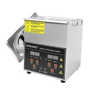 Ultrasonic Cleaner Machine With Digital Timer And Heater For Jewelry Watch 2l