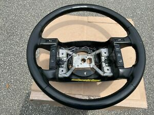 1994 1995 1996 Ford F 150 F 250 Bronco Steering Wheel Cruise Black Leather