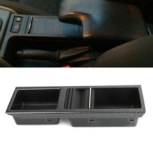Carbon Front Center Console Storage Cup Holder Fits Bmw E46 3 Series 1998 2007