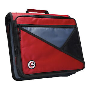 Case it Universal Laptop Zipper Binder O ring 2 Inches Red
