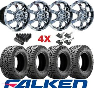 17 Chrome Wheels Rims Tires 245 65 17 Falken Wildpeak At