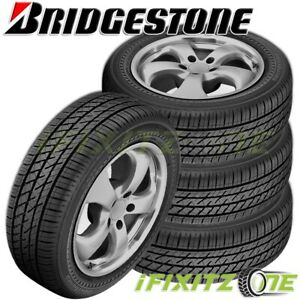 4 Bridgestone Driveguard Rft 255 45r18 99w All Season Performance Tires Runflat