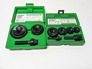 Greenlee Knockout Punch 2 Set Ball Bearing Two Sets 735bb 737bb