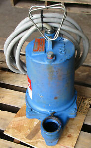 Goulds Ws0732b 3 4hp Submersible Sewage Pump 1725rpm 230v 60hz 3ph Used Take Out