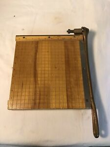Vintage No 3 Paper Cutter Ideal School Supply Company Ingento