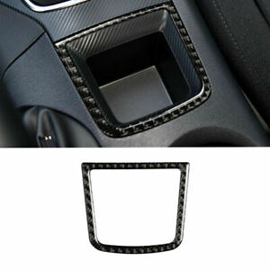 Carbon Fiber Interior Console Storage Box Frame Trim For Mazda 3 Axela 2013 2016