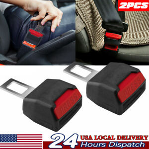 2pcs Car Safety Seat Belt Buckle Extension Universal Alarm Stopper Extender Clip
