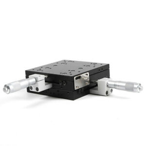 Ly125 cm Xy axis Manual Displacement Platform Precision Sliding Table Load 180n