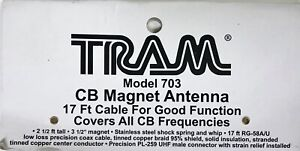 Tram 703 Cb Magnet Antenna 17ft Cable Model 703 17 Cable