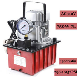 10000psi Electric Driven Hydraulic Pump Single Acting 1 8m Oil Hose Manual Valve