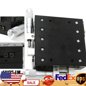 180n Mini Manual Slide Table 2 Axis Xy Linear Stage For Microscopes Black 10 m
