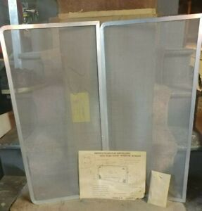 1959 1960 Nos Never Used Chevy Wagon Side Rear Door Window Screens