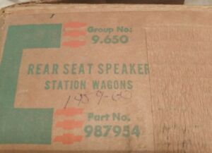 1959 1960 Chevrolet Nos Rear Seat Speaker Assembly station Wagon