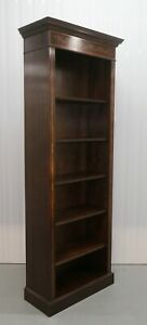 Lovely Sheraton Open Front Bookcase Hand Crafted With Adjustable Shelves