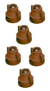 Pack Of 6 Teejet Extended Range Spray Tip W cap 110 Rated 0 5 Gpm 40 Psi