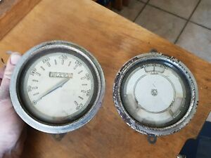 1937 1938 Willys Speedometer And Gauge Cluster Oil Amps Fuel Distometer