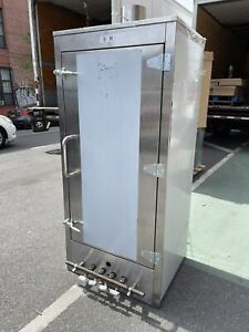 Chinese Smoker 30 X 30 Gas Oven All Stainless Steel Interior 4 Burners Nsf