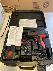 Snap On Ct3850 1 2 Drive Cordless Impact Wrench Set 18v Battery Charger Case