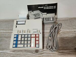 Vintage Olivetti Divisumma 33 Electronic Printing Calculator Tested Working