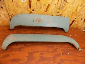 1955 1956 Ford Victoria Fairlane Rear Fender Skirts Steel 55 56 Ford