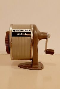 Sanford Giant Pencil Sharpener Wall desk Mount 6 Hole