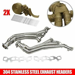 Stainless Long Headers W Wrap Fit Chrysler 300c Dodge Charger Magnum Challenger