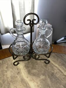 Antique Cruet Set With Stand This Is A Beautiful Set