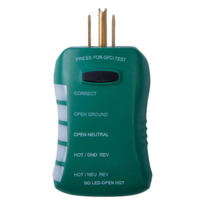 Commercial Electric Gfci Outlet Circuit Analyzer Tester Electrical Test Meter