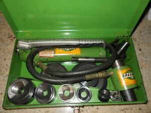 Greenlee 7646 a Hydraulic Knockout Punch Driver Set 1 2 4 767 a Pump And Ram