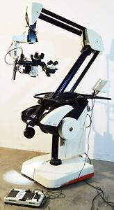 Leica M500 n Neuro Surgical Microscope With Storz S97778 Ntsc Camera Ohs Stand