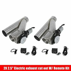 2x 2 5 Electric Exhaust Catback Downpipe Cutout E Cut Out Valve System Remote