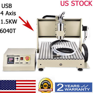 Usb 4axis Cnc 6040 1 5kw Vfd Router Engraver Engraving Machine Water cooling
