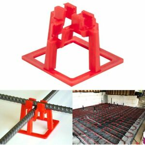 Rebar Chair 1 1 2 Support System Concrete Cement Slab Pouring Holder 50 Pack