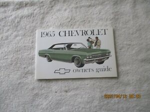 New 1965 Chevrolet Impala Belair Biscayne Station Wagon Owners Manual