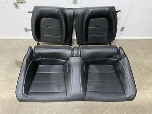 2015 2020 Ford Mustang Gt Coupe Rear Seats Black Leather Oem