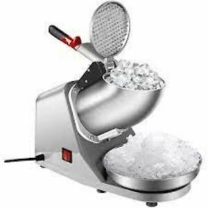 Ice Shaver Machine snow Cone Maker With Hawaiian Syrups And Accessories