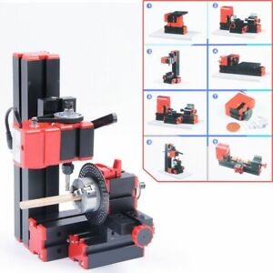 V0 Cnc Mini Classic Lathe Tool 8 In 1 Milling Machine Sawing Driller Grinder